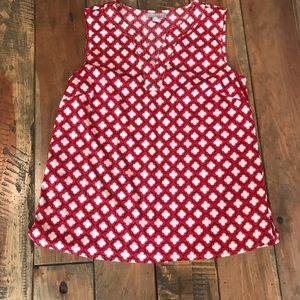 Banana Republic Red/white/black sleeveless top